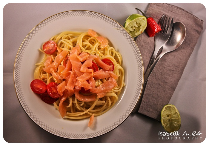 Food Lachs-Pasta