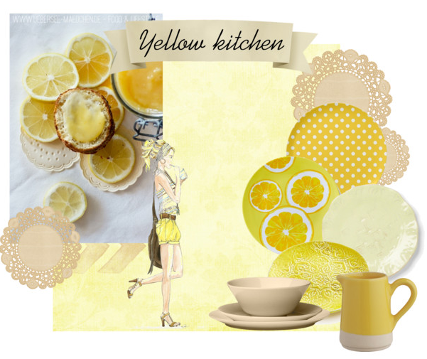 Yellow in the kitchen Inspiration