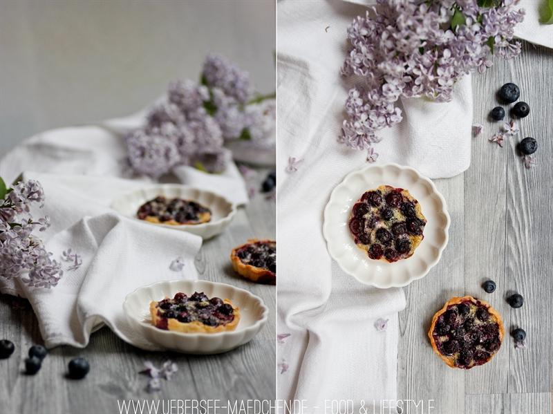 Mit Mohn-Creme werden Blaubeer-Tartelettes frühlignsfrisch