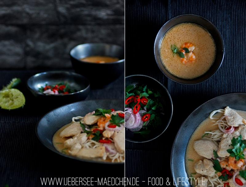 Thailändisches Surf&Turf Curry mit Hähnchen, Garnelen und Tamarindenpüree