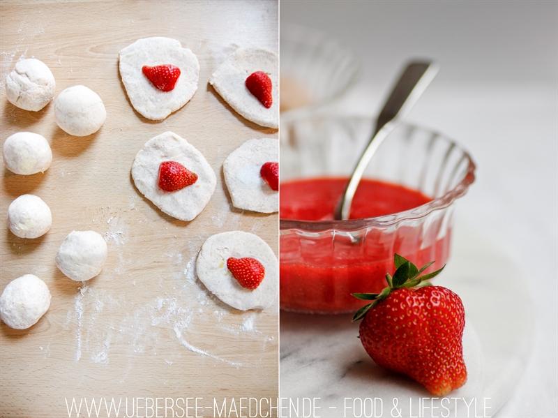 Süße Erdbeer-Quark-Knödel