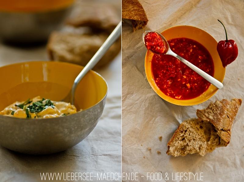 Rezept für Obazda und Paprika als Brotaufstrich