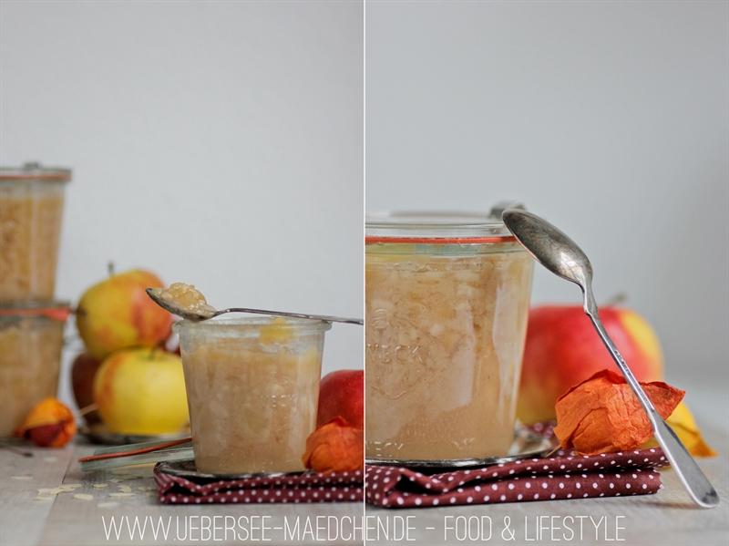 Rezept für Bratapfel-Marmelade als Weihnachts-Geschenk aus der Küche