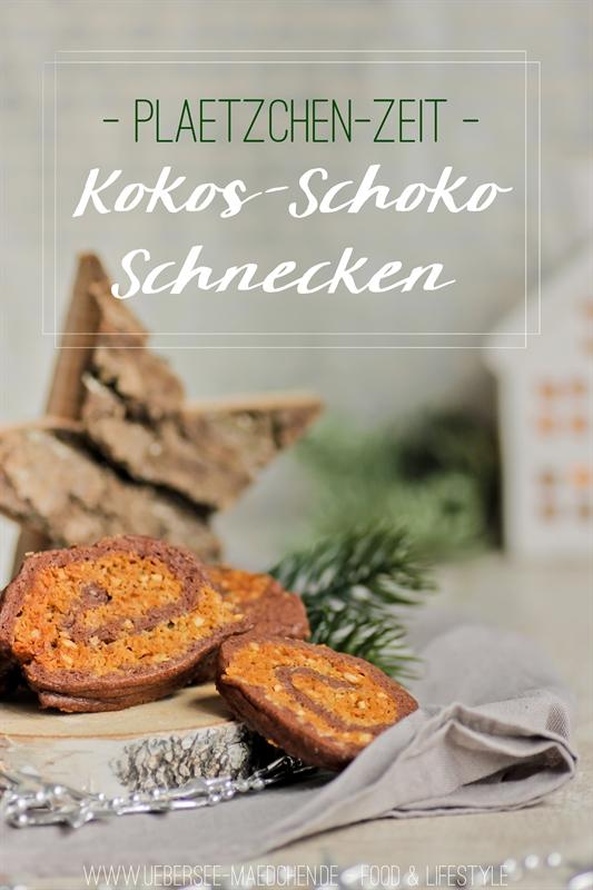 Rezept für Kokos-Schoko-Schnecken Plätzchen