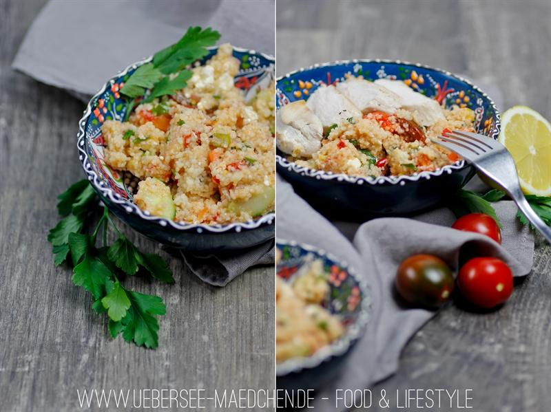 Couscous-Salat als schnelles, leichtes Mittagessen