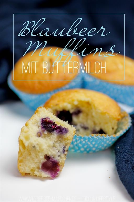 Rezept für Blaubeer-Muffins mit Buttermilch