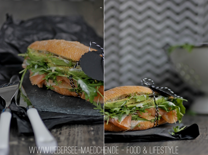 Rezept für geniales Lachs-Avocado-Sandwich