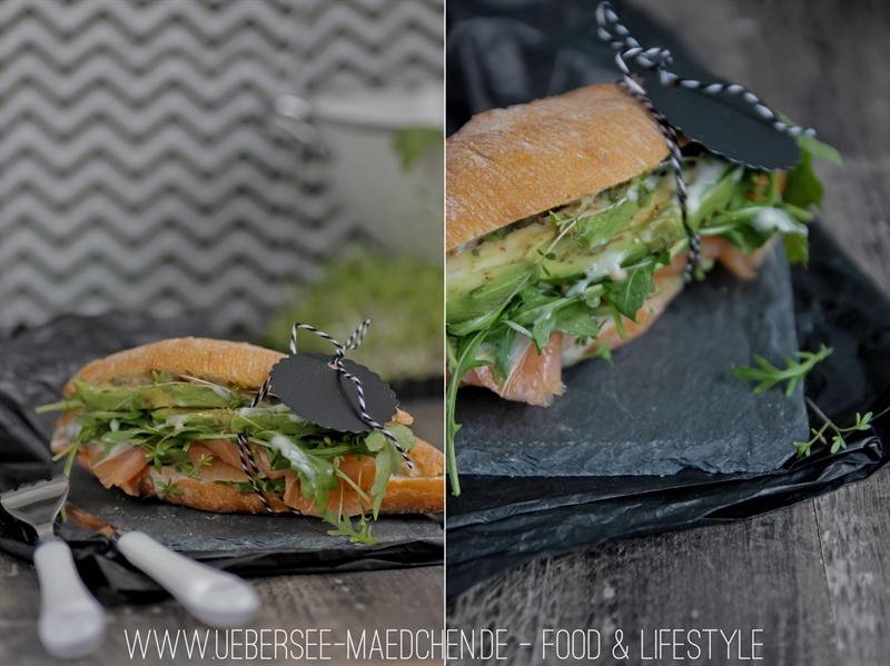 Rezept für Lachs-Avocado-Sandwich