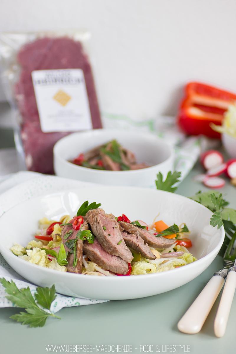 Rezept für Asia-Salat mit Rindfleisch und lecker Dressing