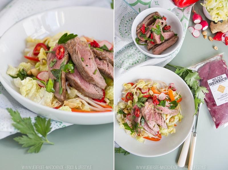 Asia-Salat mit Roastbeef