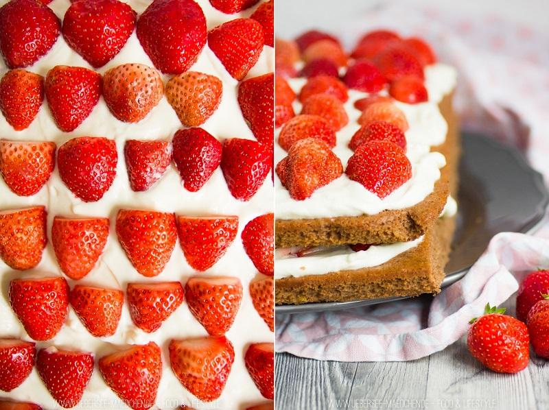 Beerenstark: Rezept für Erdbeer-Torte mit Brownieboden