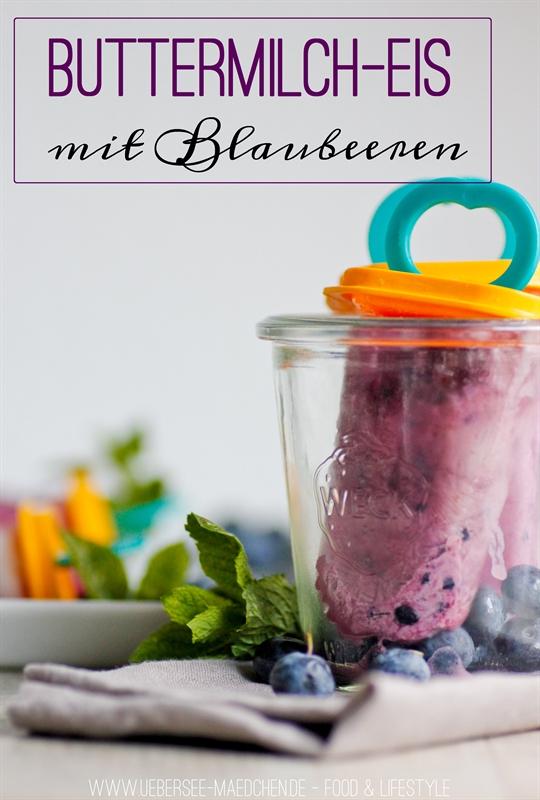 Buttermilch-Blaubeer-Eis