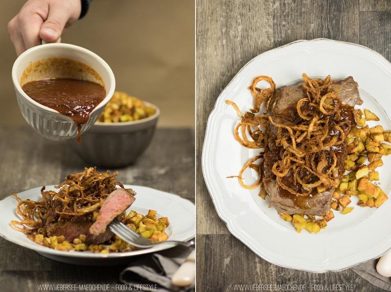 Einfaches Rezept für Zwiebelrostbraten wie im Restaurant