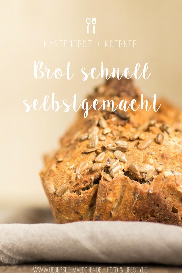 Rezept für Brot schnell selbstgemacht, Kastenbrot mit Körnern