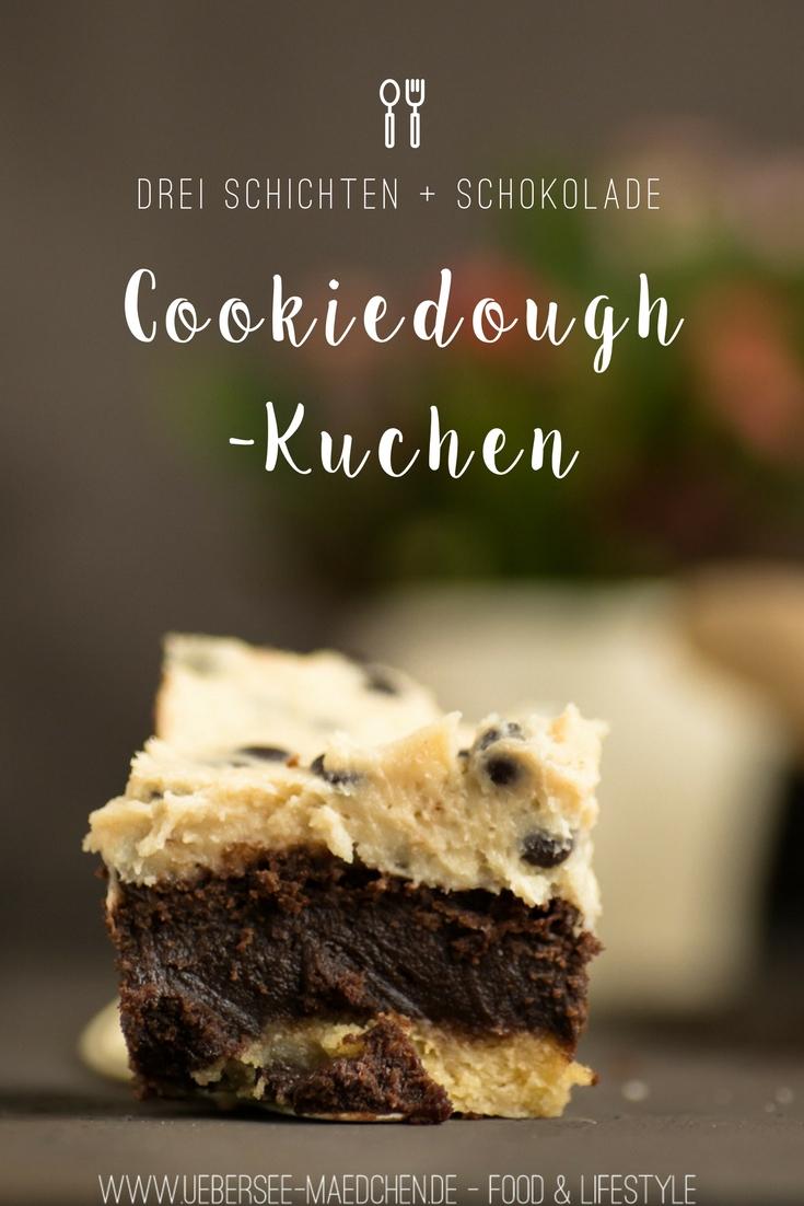 Cookiedough-Kuchen mit Brownie-Schicht Rezept aus der Lecker Bakery mit roher Keksteig von ÜberSee-Mädchen Foodblog Bodensee Überlingen