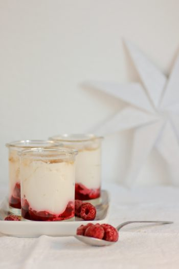 Himbeer-Dessert schnell einfach vorzubereiten