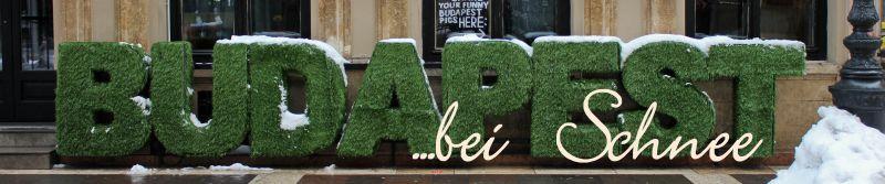 Budapest Snow Schriftzug