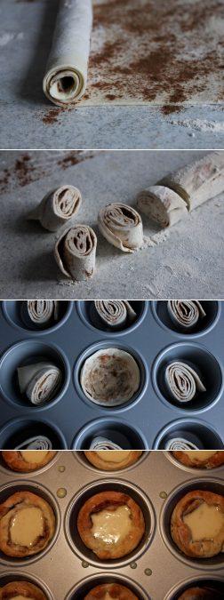 Zubereitung von Blätterteigtörtchen wie Pasteis de nata nach Jamie Oliver