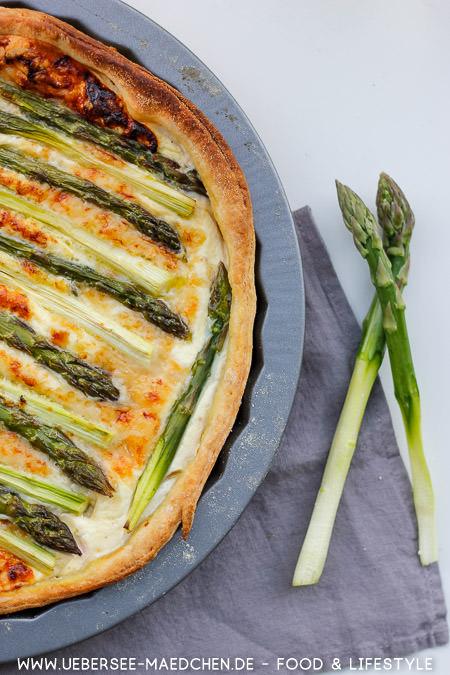 Einfache grüne Spargeltarte mit Ricotta Rezept ÜberSee-Mädchen Foodblog vom Bodensee