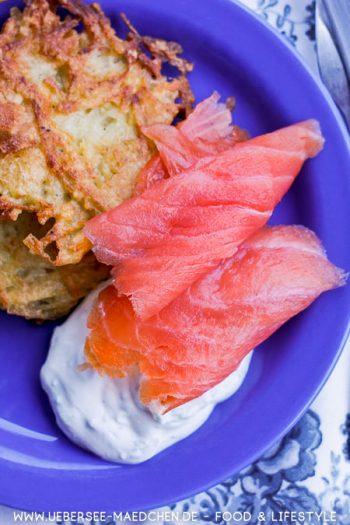 Kartoffelpuffer einfach selbstgemacht mit Quark und Lachs Rezept von ÜberSee-Mädchen Foodblog vom Bodensee
