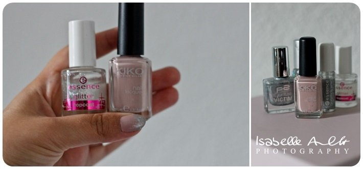 Nails Nude Glitter Kombi