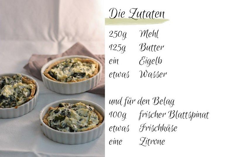 Food Spinat-Tartelettes