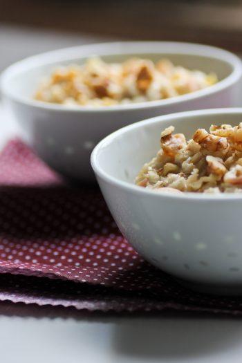 Rezept für einfaches Porridge zum Frühstück