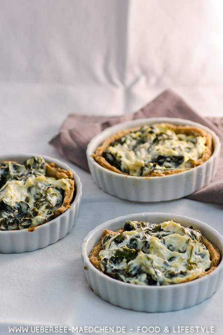 Spinat-Tartelettes einfaches Rezept von ÜberSee-Mädchen Foodblog vom Bodensee