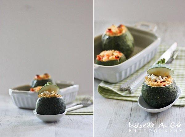 Food Gefüllte runde Zucchini-horz