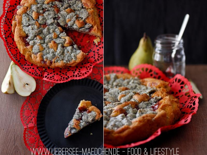 Birnenkuchen mit Mandelstreuseln und Preiselbeeren ÜberSee-Mädchen-12-tile