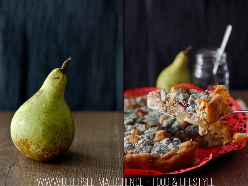 Birnenkuchen mit Mandelstreuseln und Preiselbeeren ÜberSee-Mädchen-9-tile
