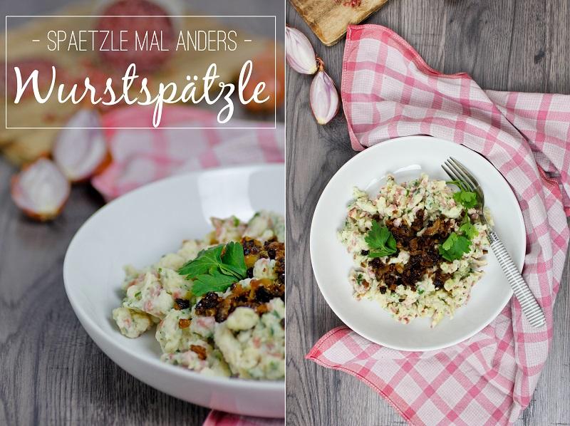 Rezept für einfache schwäbische Wurstspätzle von ÜberSee-Mädchen Foodblog vom Bodensee