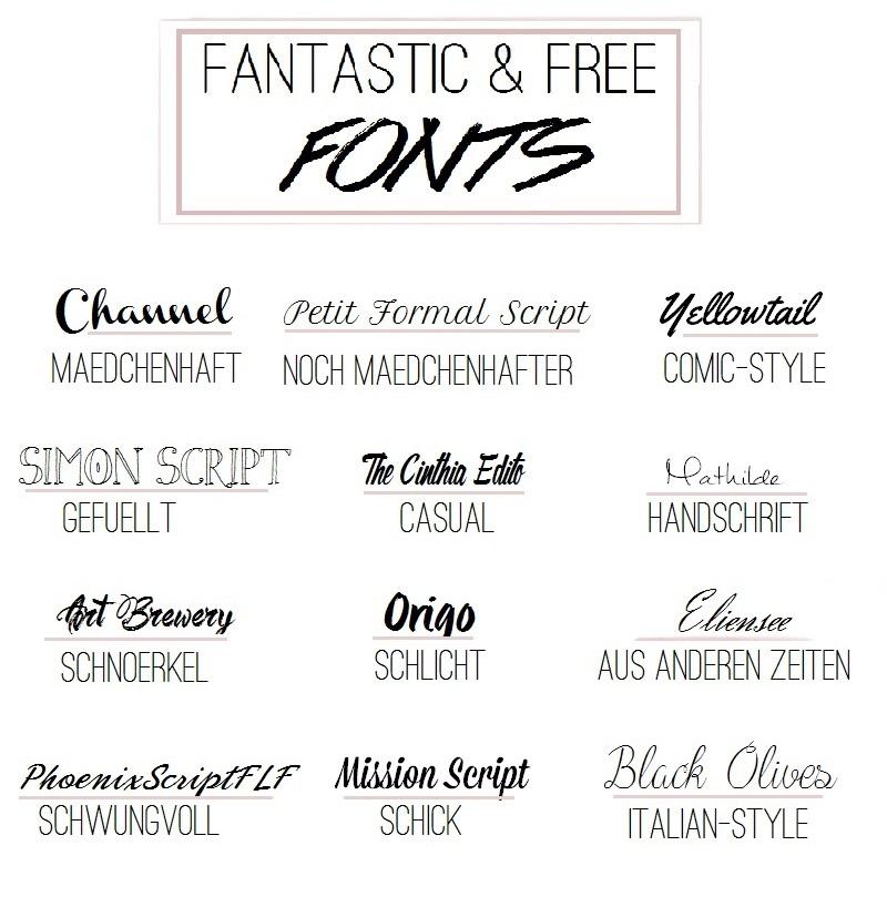 Fantastic & Free Fonts kostenlose Schriften Download