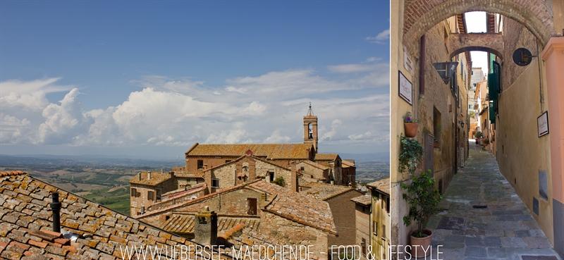 Montepulciano Toskana Dach Straßen