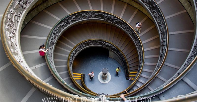 Treppe Vatikanische Museen Rom Stairway
