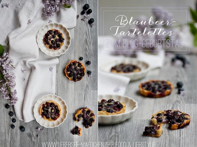 Blaubeer-Tartelettes zum Bloggeburtstag