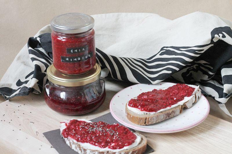 Himbeer-Chia-Marmelade ohne Zucker