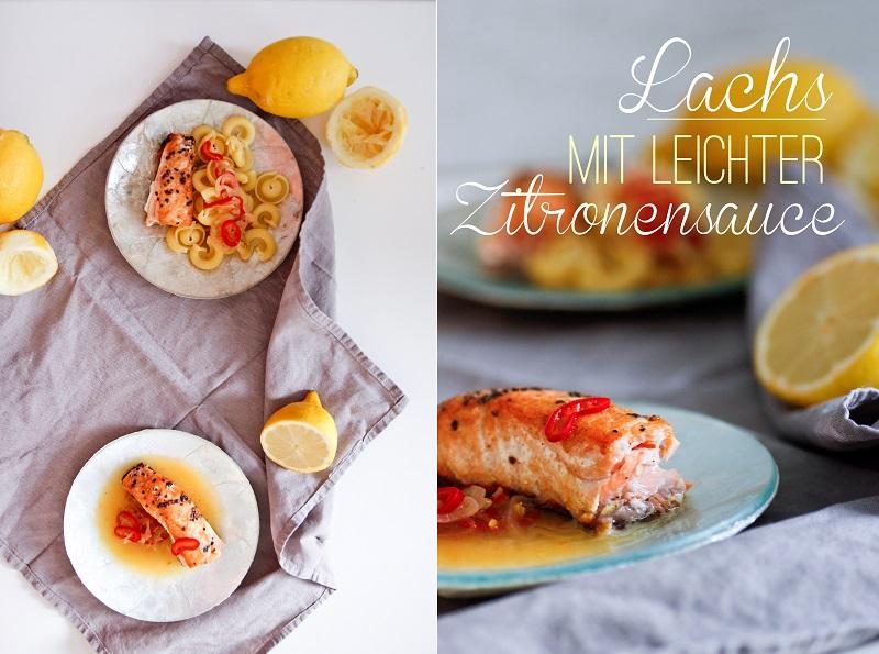 Lachs mit leichter Zitronensauce ohne Sahne sauer-würzig