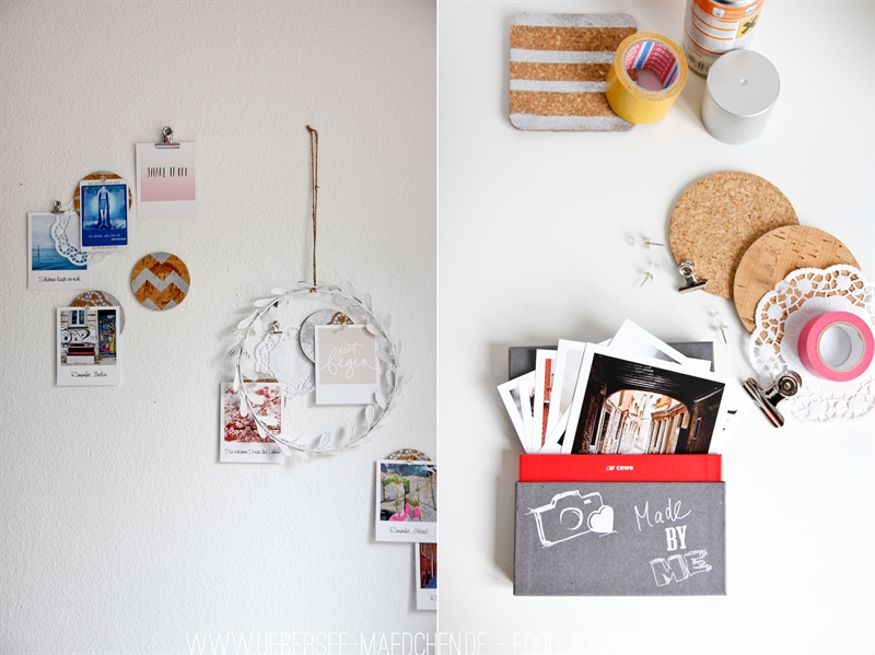Mit Polaroid-Bildern und Kork-DIY zum Workspace-Makeover