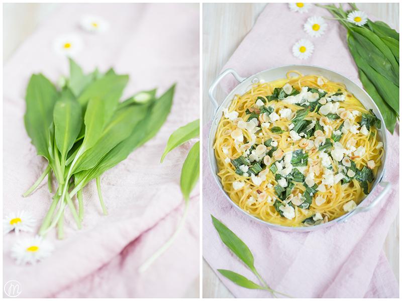 Cremiges Spaghetti-Omelette mit Bärlauch