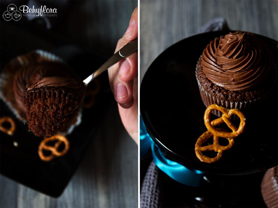 Salzbrezel-Cupcakes süß und salzig