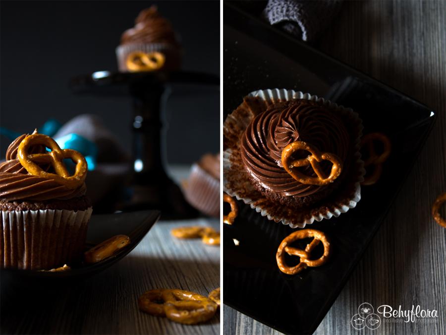 Salzbrezel-Cupcakes
