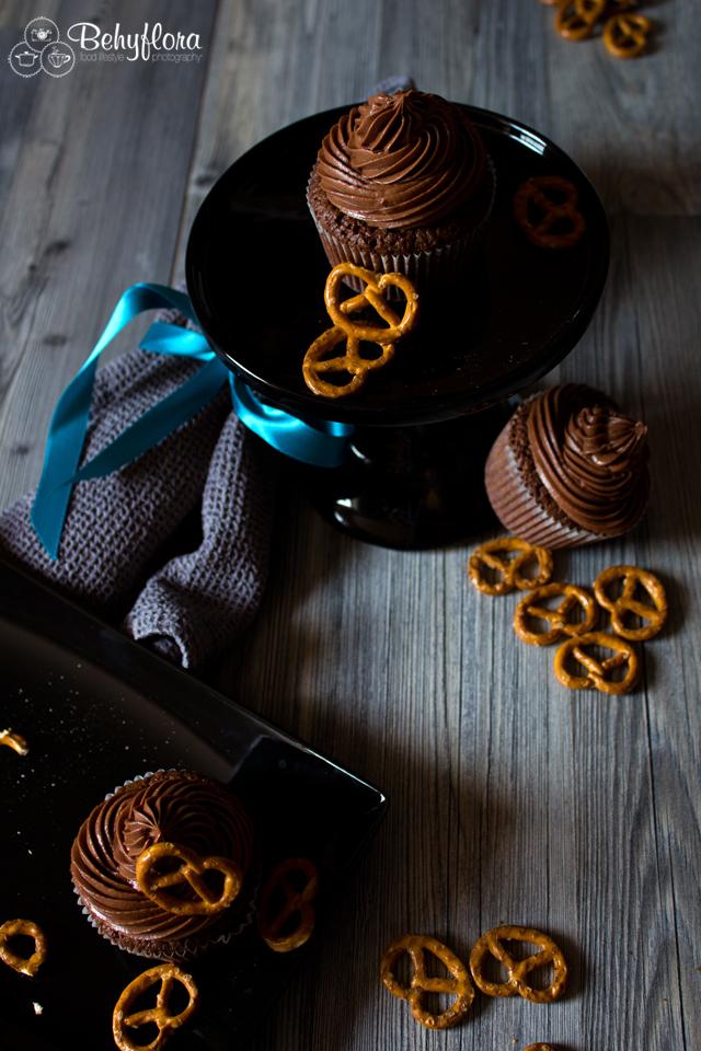 Salzbrezel-Cupcakes süß mit salzig