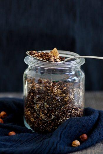 Schoko-Granola selbstgemacht zum Frühstück