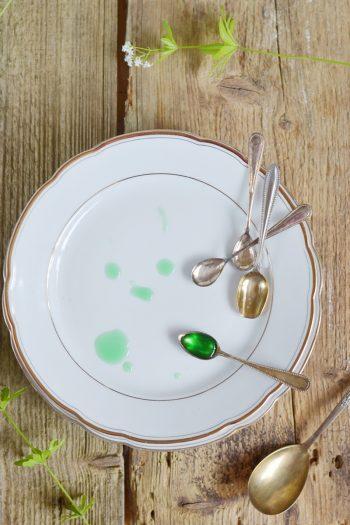 Rezept für grünes Waldmeister-Sorbet