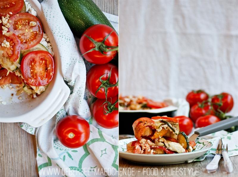 Mediterraner Schichtsalat nach italienischer Art