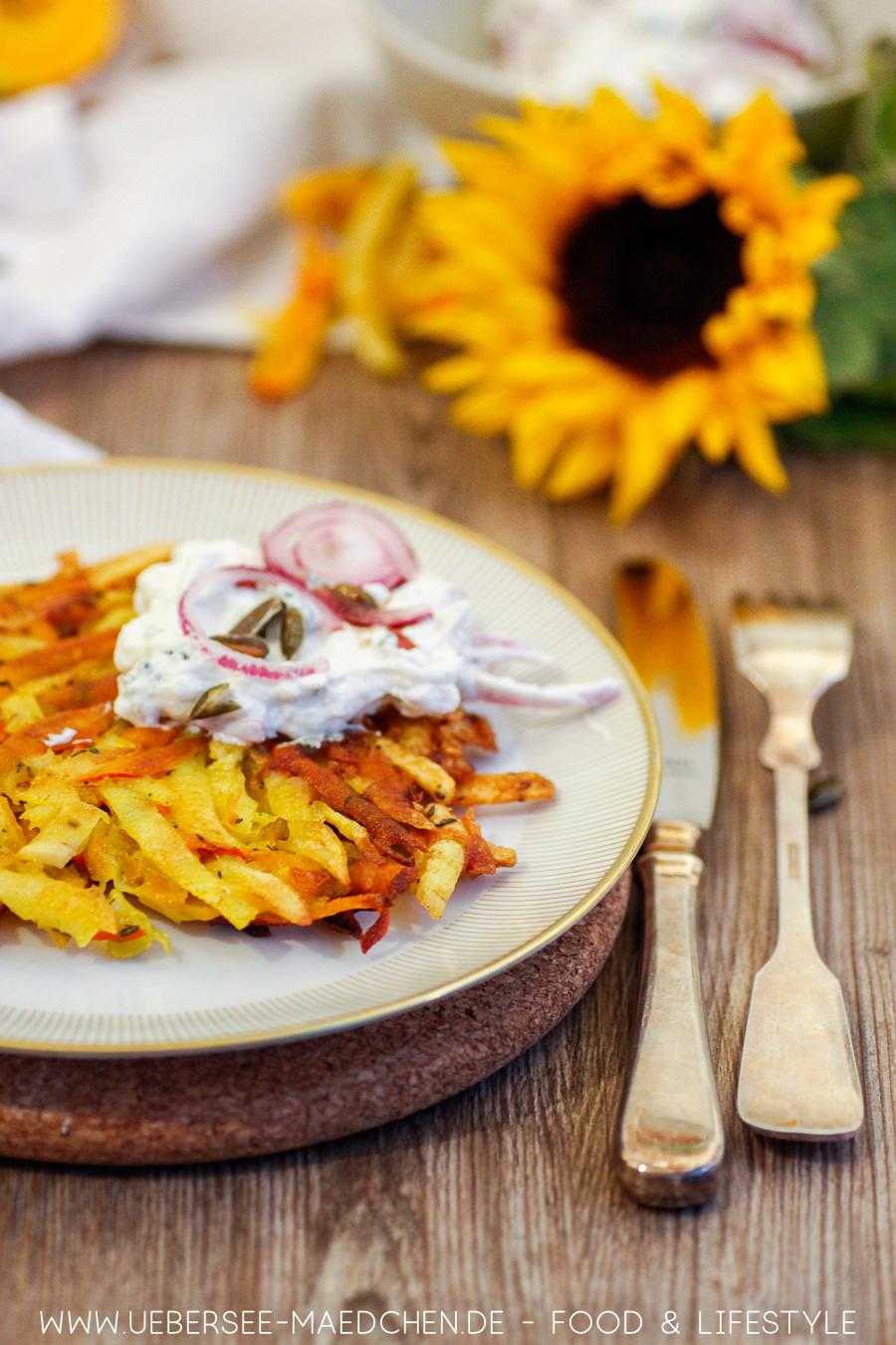 Rezept für Kürbis-Rösti mit Kartoffeln und Quark von ÜberSee-Mädchen Foodblog vom Bodensee Konstanz