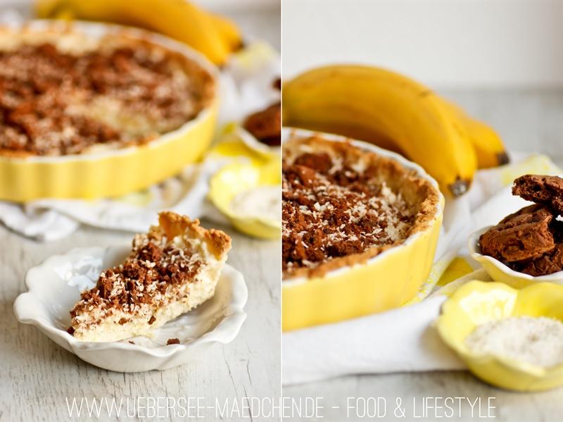 Rezept für Kuchen mit Kokos und Banane