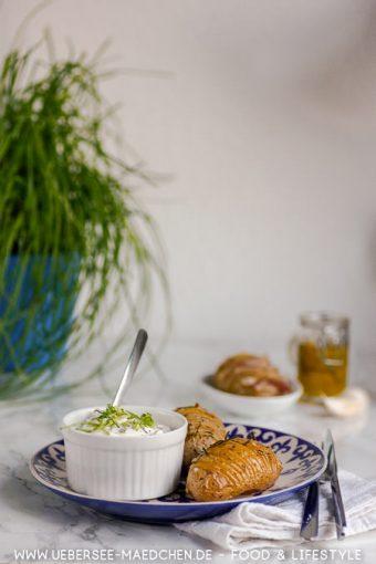 Hasselback-Kartoffeln einfach knusprig aus dem Ofen Rezept von ÜberSee-Mädchen Foodblog vom Bodensee Konstanz