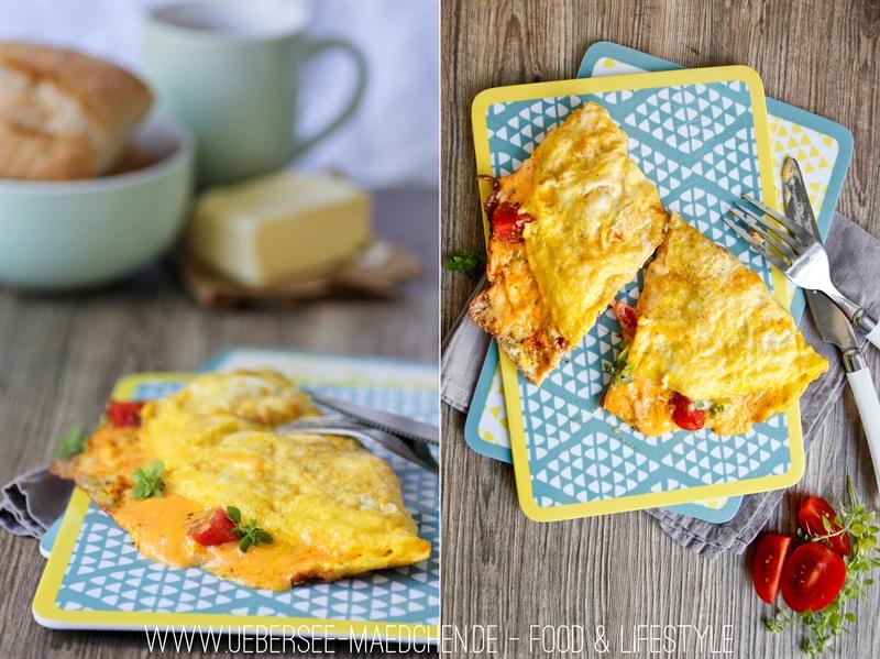 Rezept für Omelett mit schmelzendem Käse